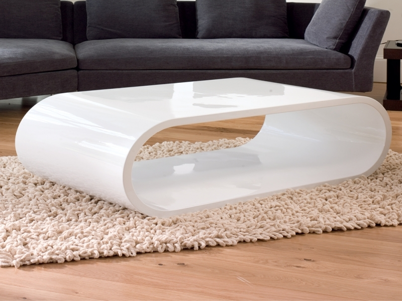 Excellent Preferred White Oval Coffee Tables In Home Element Modern Oval Gloss Coffee Table Super White Color (View 22 of 50)