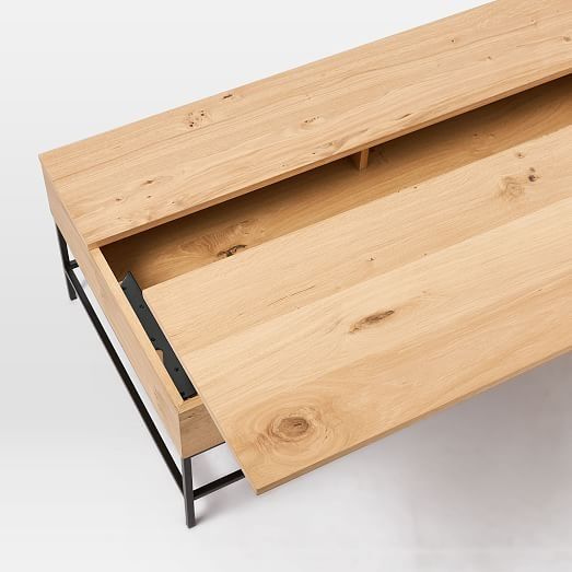 Excellent Preferred Wooden Storage Coffee Tables In Industrial Storage Coffee Table West Elm (View 22 of 50)