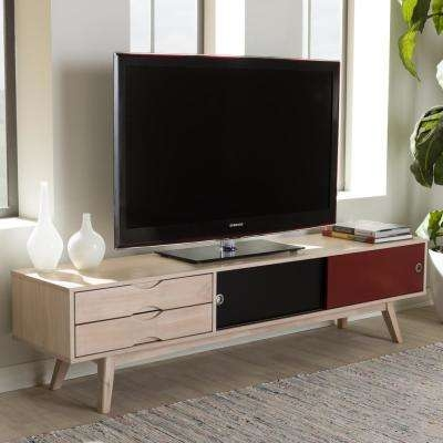 Excellent Preferred Wooden TV Stands For Tv Stands Living Room Furniture The Home Depot (Image 15 of 50)