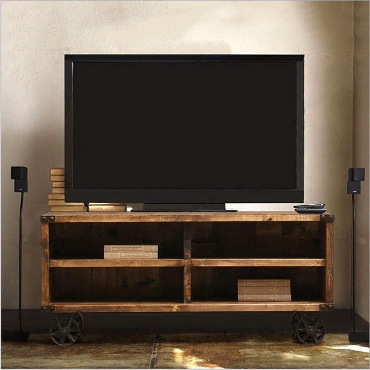 Excellent Preferred Wooden TV Stands With Wheels With Tv Stands Glamorous Rolling Tv Stands For Flat Screens  (Image 13 of 50)