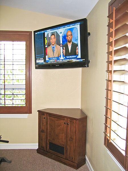 Excellent Premium Corner TV Stands With Bracket Regarding Corner Tv Cabinet C 130 Corner Tv Stand To Rest Below Wall (View 36 of 50)