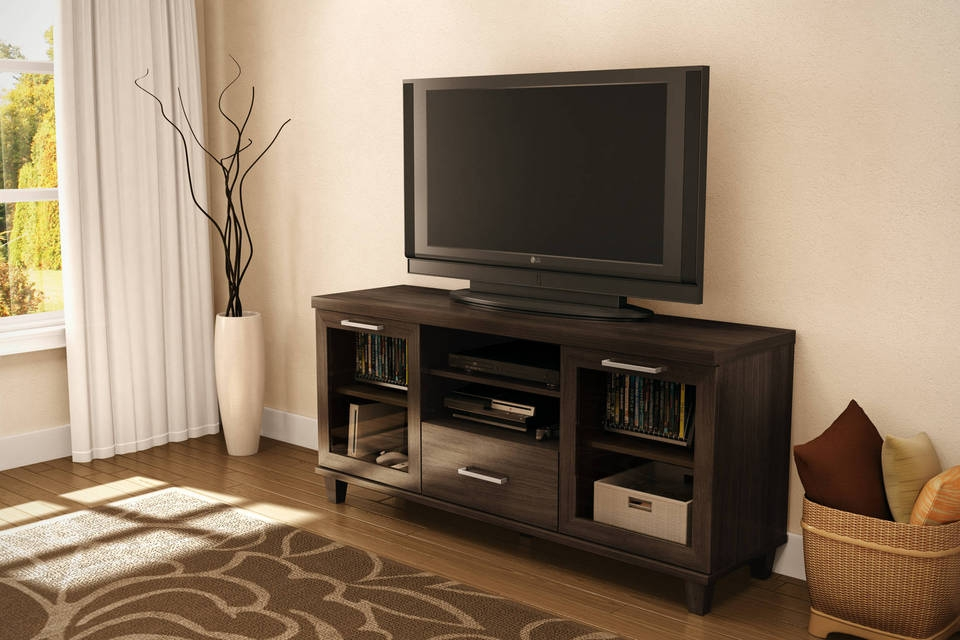 Excellent Premium Dark Brown Corner TV Stands For Tv Stands Corner Tv Stands 55 Inch Flat Screen Tv Stands And (View 14 of 50)