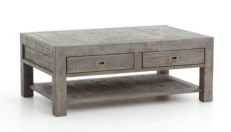 Excellent Premium Grey Wash Wood Coffee Tables Throughout Grey Wash Coffee Table (Image 20 of 50)