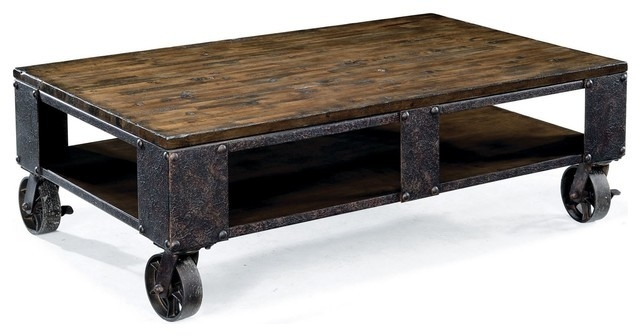 Excellent Premium Industrial Style Coffee Tables Intended For Appealing Industrial Style Coffee Table Best Ideas About (View 13 of 50)