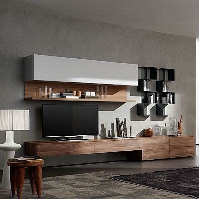 Excellent Premium Modern TV Cabinets Throughout Elegant And Modern Lush Tv Unit Bookshelf Italian Piece With (Image 15 of 50)