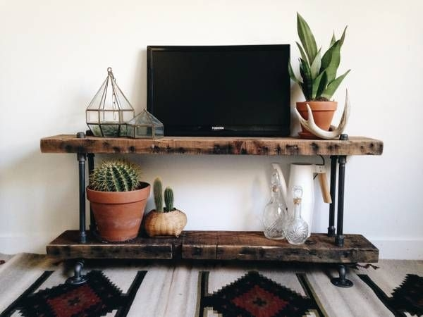 Excellent Premium Reclaimed Wood And Metal TV Stands Pertaining To Best 20 Industrial Tv Stand Ideas On Pinterest Industrial Media (Image 19 of 50)