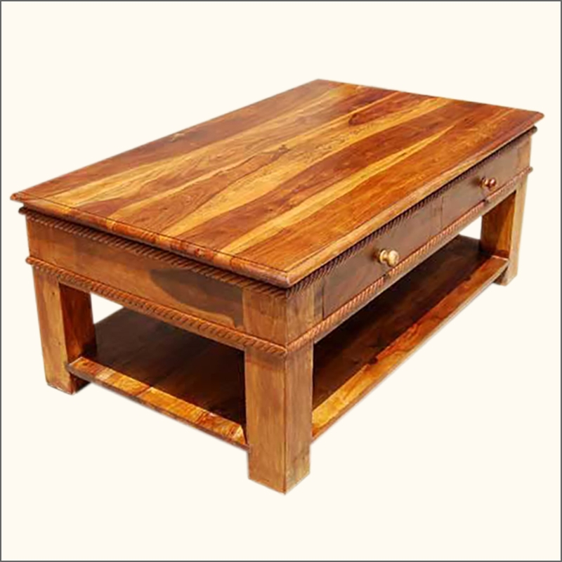 Excellent Premium Solid Oak Coffee Table With Storage With Regard To Coffee Tables Solid Wood Gallery Image Capudocs (Image 12 of 50)