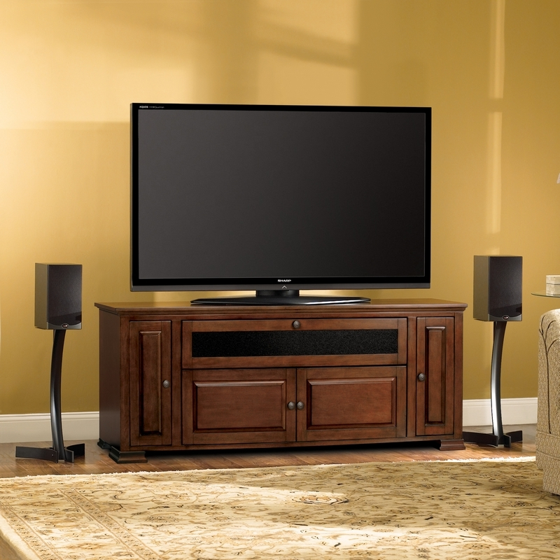 Excellent Premium Traditional TV Cabinets In Bello Pr33 62 Traditional Tv Stand Audio Video Storage Cabinet In (Image 14 of 50)