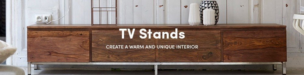 Excellent Premium TV Stands 100cm Regarding Solid Wood Tv Stands Oak Teak Mahogany Tv Stands Tikamoon (View 13 of 50)