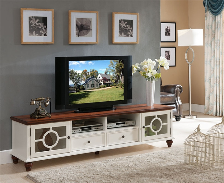 Excellent Premium White Modern TV Stands In Living Room Tv Stands (Image 12 of 50)