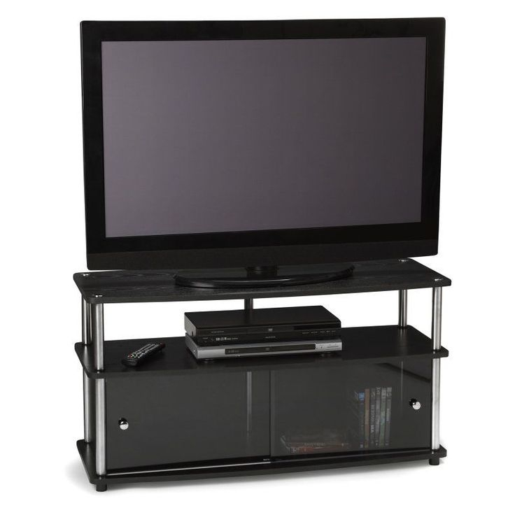 Excellent Series Of Black TV Stands With Glass Doors With Regard To Best 25 Plasma Tv Stands Ideas That You Will Like On Pinterest (Image 15 of 50)