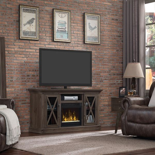 Excellent Series Of Classic TV Stands In Cottage Grove 55 Tv Stand With Fireplace D 18mm6075 Pi14s (Image 15 of 50)