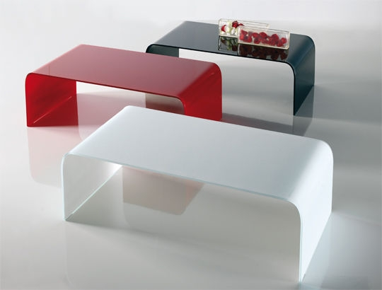 Excellent Series Of Curved Glass Coffee Tables Pertaining To Contemporary Coffee Table Glass Curved Glass Rectangular (Image 15 of 50)