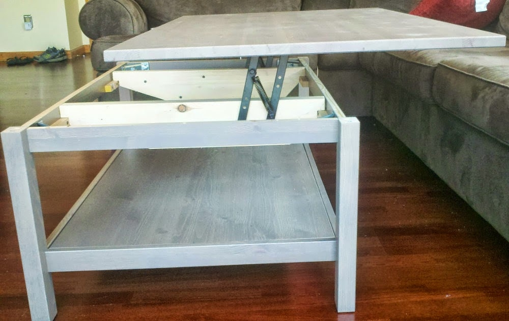 Excellent Series Of Elevating Coffee Tables With Regard To Hemnes Lift Top Coffee Table Ikea Hackers Ikea Hackers (Image 16 of 50)