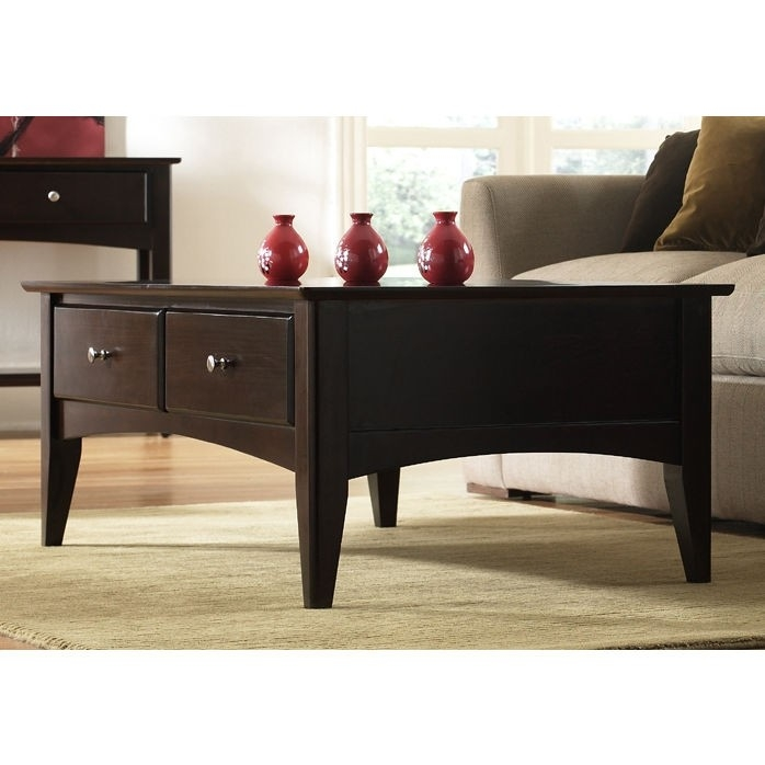 Excellent Series Of Espresso Coffee Tables For Riverside Furniture Cosmopolitan Storage Coffee Table In Espresso (View 41 of 50)