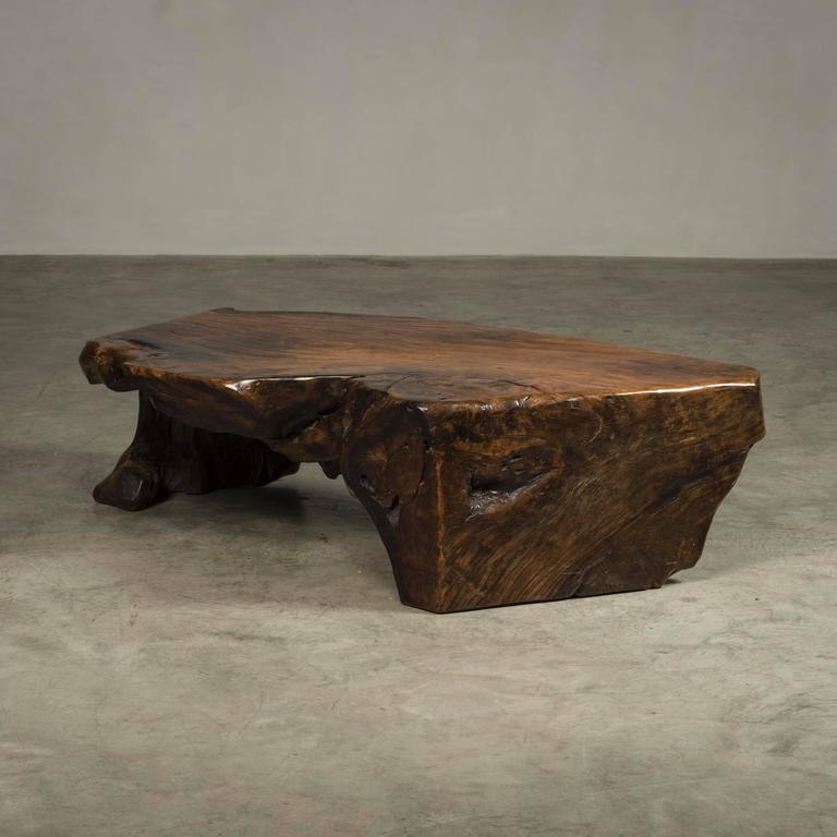 Excellent Series Of Free Form Coffee Tables Intended For Coffee Table Free Form Made Of Narra Root Wood For Sale At 1stdibs (Image 15 of 40)