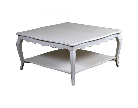 Excellent Series Of French White Coffee Tables Within Louis French Coffee Table Grey French Shab Chic Coffee Tables (View 44 of 50)