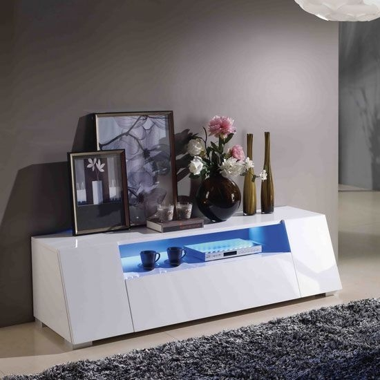 Excellent Series Of Glossy White TV Stands Inside 38 Best Tv Stands Images On Pinterest High Gloss Tv Stands And (Image 14 of 50)