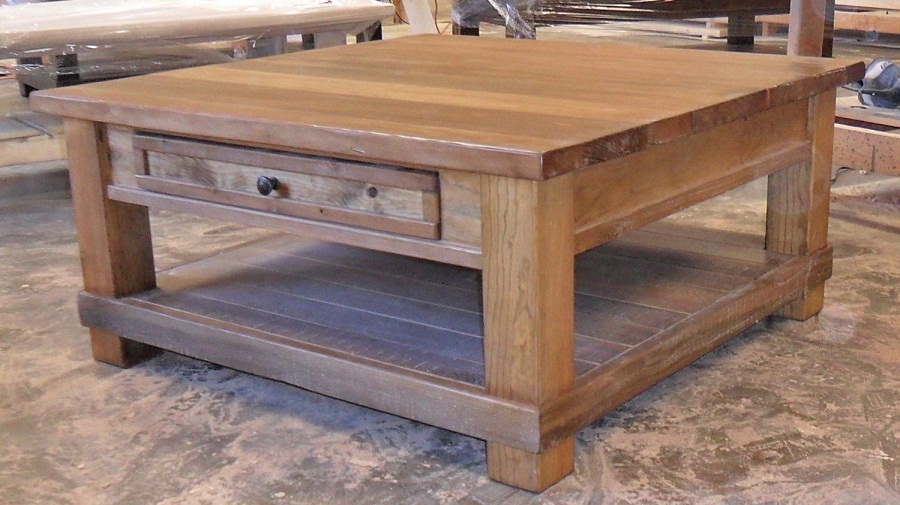 Excellent Series Of Large Rustic Coffee Tables Throughout Attractive Rustic Square Coffee Table Yonder Years Rustic (View 27 of 50)