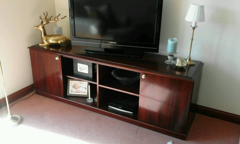 Excellent Series Of Mahogany TV Cabinets With Regard To Mahogany Tv Cabinet In Dundee Gumtree (View 42 of 50)