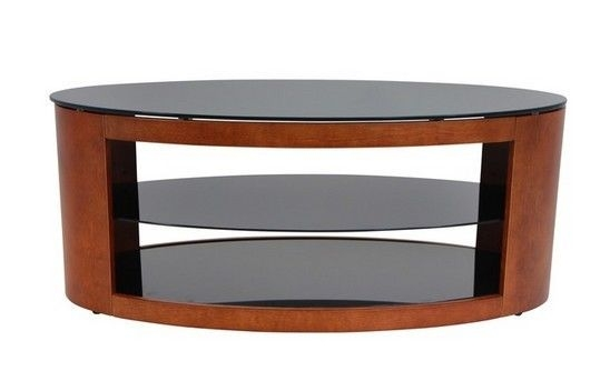Excellent Series Of Modern Walnut TV Stands For Oval Coffee Table Modern Wood Glass Shelves Tv Stand Cocktail Sofa (Image 21 of 50)