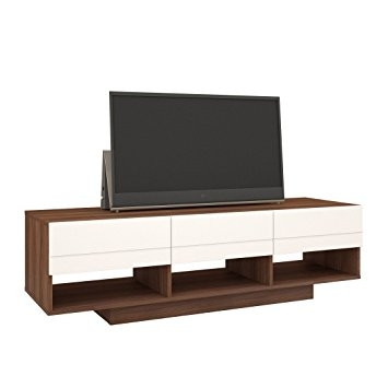 Excellent Series Of Nexera TV Stands Within Amazon Nexera 105140 Sequence Tv Stand 60 Inch Walnut (View 5 of 50)