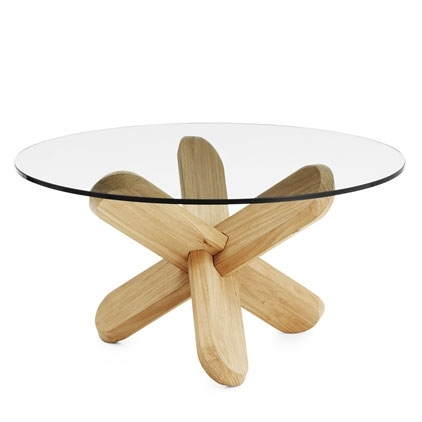 Excellent Series Of Oak And Glass Coffee Tables Within Normann Copenhagen Ding Oak Coffee Table With Clear Glass (Image 17 of 50)