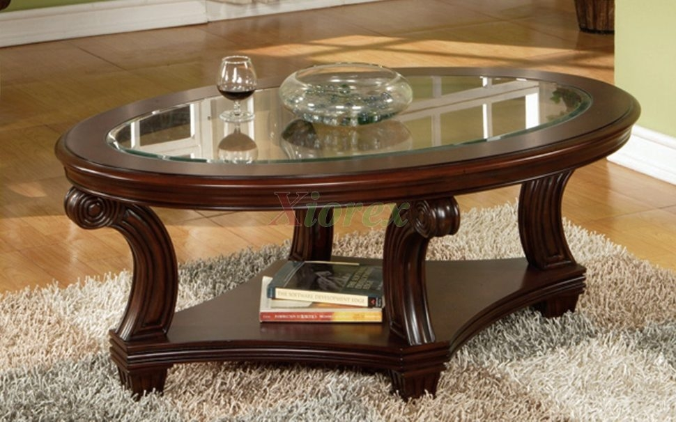 Excellent Series Of Oval Black Glass Coffee Tables Intended For Coffee Table Oval Coffee Table Perseus Glass Top Oval Coffee (Image 18 of 50)