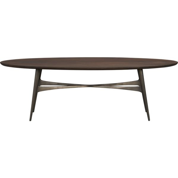 Excellent Series Of Oval Walnut Coffee Tables Within Modern Oval Coffee Tables Table And Estate (Image 14 of 50)