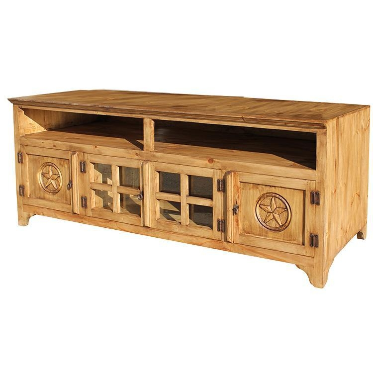 Excellent Series Of Pine Wood TV Stands Inside Rustic Pine Collection Gregorio Star Tv Stand Com (Image 12 of 50)
