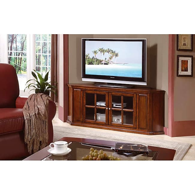 Excellent Series Of Real Wood Corner TV Stands Within Oak Solid Wood And Veneer 62 Inch Corner Tv Stand Free Shipping (Image 15 of 50)