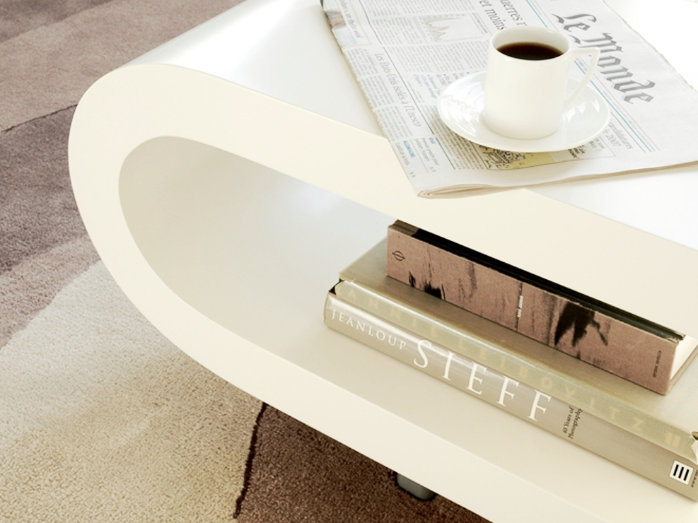 Excellent Series Of Retro White Coffee Tables With Regard To Loopy Retro Coffee Table Matt White Coffee Tables (Image 16 of 50)