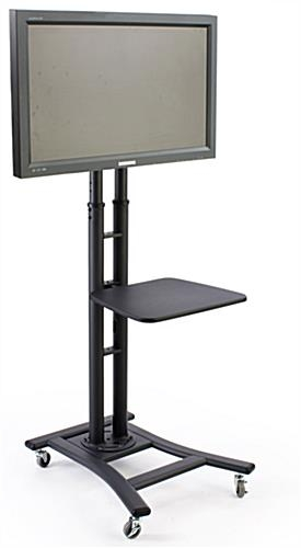 Excellent Series Of Small TV Stands On Wheels Within Black Lcd Stand Sold With 19 Inch Shelf (Image 14 of 50)