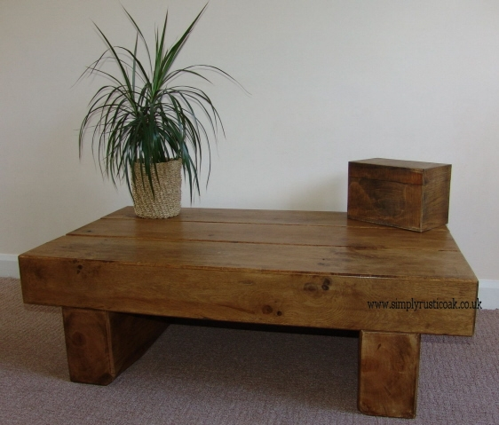 Excellent Series Of Square Oak Coffee Tables Regarding Coffee Table Rustic Oak Coffee Tables With Plant At Above Free (Image 13 of 50)