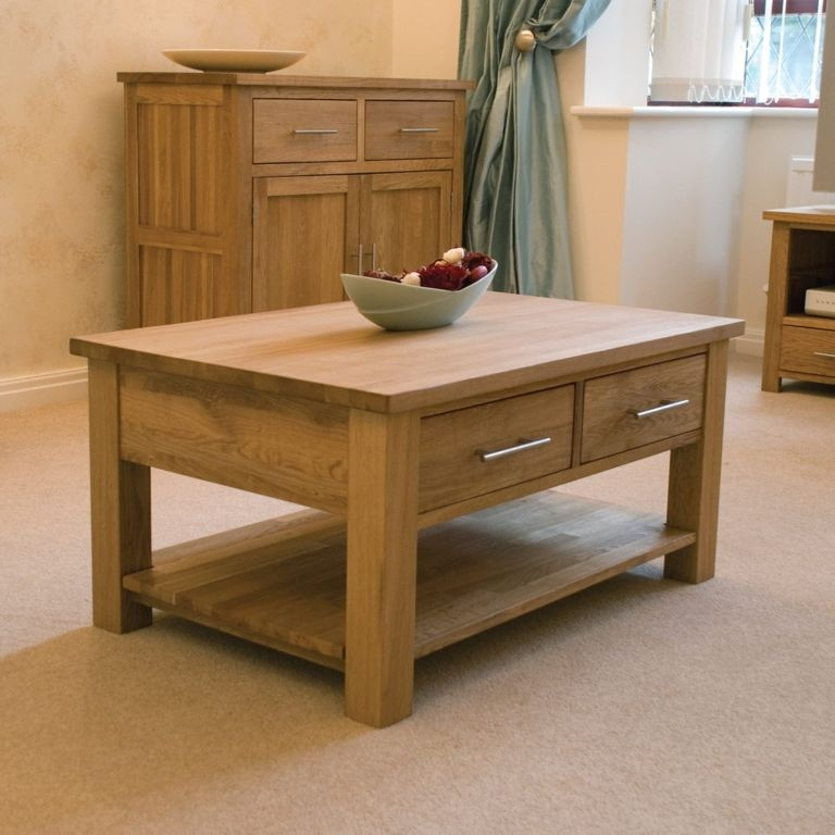 Excellent Series Of Square Shaped Coffee Tables Inside Furniture Real Oak Wood Coffee Tables Design Ideas With Square (View 8 of 50)