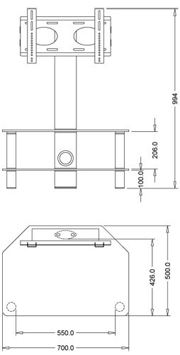 Excellent Series Of Stil TV Stands Regarding Stil Stand Stuk 2052chbl Tv Stands (View 17 of 49)