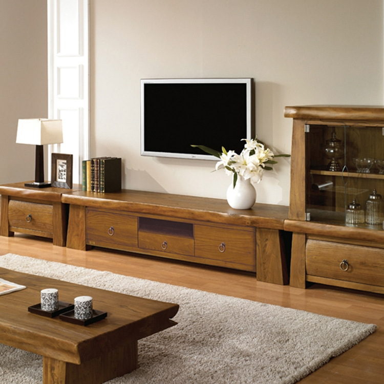 Excellent Series Of TV Cabinets With Storage For Korean Exports Of Old Elm Cabinet Combination Living Room (View 34 of 50)