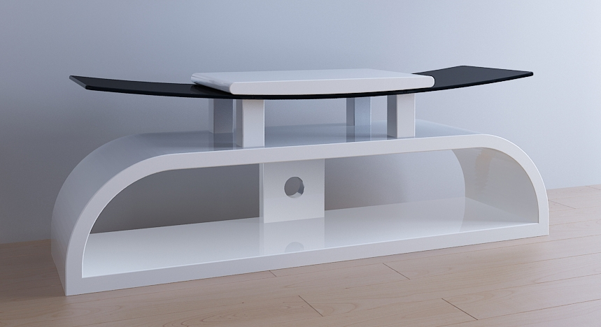 Excellent Series Of White Gloss Corner TV Stands Within White Gloss Tv Stand Television Stand Wood Tv Stand (Image 16 of 50)