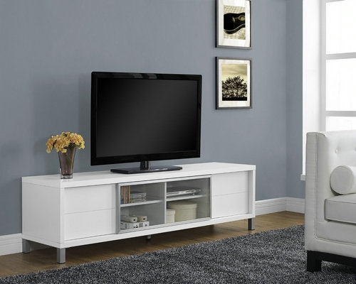 Excellent Top Cheap White TV Stands Intended For Best Tv Stands For 75 Inch Tv In  (Image 23 of 50)