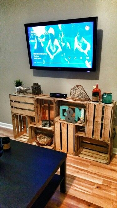 Excellent Top Cheap Wood TV Stands With Best 25 Crate Tv Stand Ideas On Pinterest Cheap Wooden Tv (Image 13 of 50)