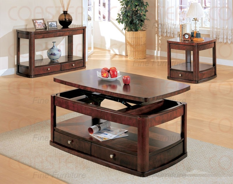 Excellent Top Cherry Wood Coffee Table Sets With Regard To Top Cherry Wood Coffee Table Cherry Wood Coffee Table With Metal (View 8 of 50)