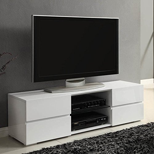 Excellent Top Contemporary White TV Stands Within Amazon Coaster Home Furnishings 700825 Contemporary Tv (View 37 of 50)