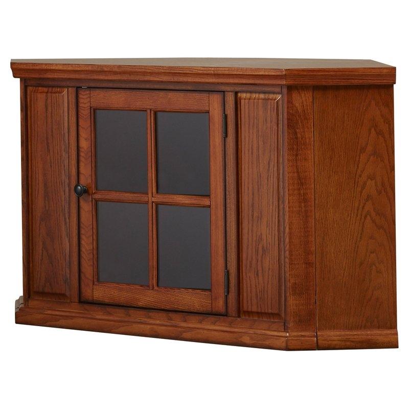 Excellent Top Corner Oak TV Stands In Three Posts Benson Corner 47 Tv Stand Reviews Wayfair (View 35 of 50)