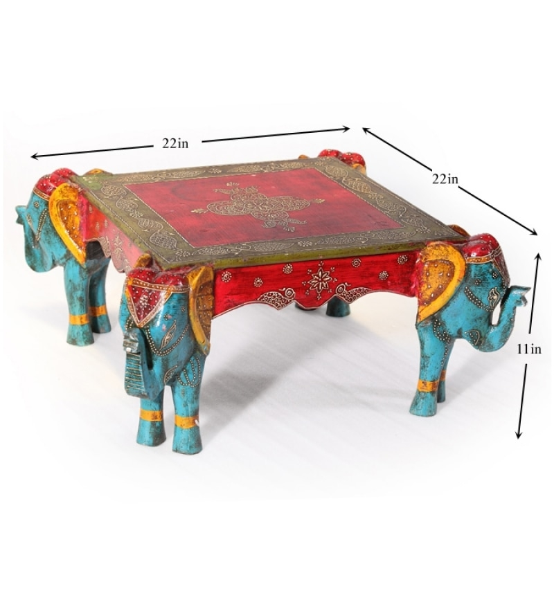 Excellent Top Elephant Coffee Tables Within Rangilo Rajasthan Square Elephant Coffee Table Mudramark Online (Image 22 of 50)