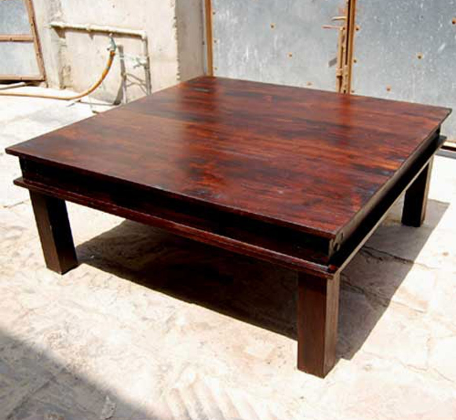 Phebe Modern Oak Timber Coffee Table Square Timber Top: 50+ Extra Large Rustic Coffee Tables