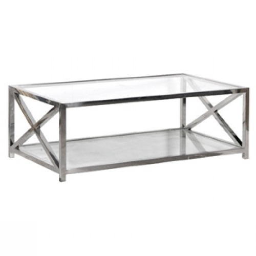 Excellent Top Glass Chrome Coffee Tables Within Coffee Table Excellent Glass Top Metal Base Coffee Table Metal (Image 14 of 40)