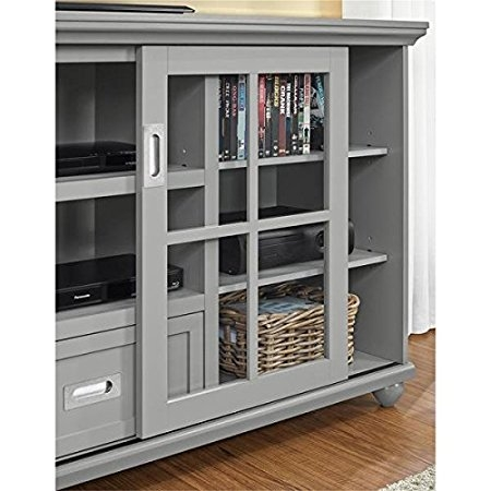 Excellent Top Lane TV Stands With Regard To Amazon Altra Aaron Lane Grey 55 Inch Tv Stand Neutral Grey (View 48 of 50)