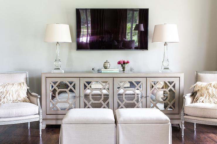 Excellent Top Long White TV Cabinets With Regard To Mirrored Tv Cabinet Design Ideas (Image 16 of 50)