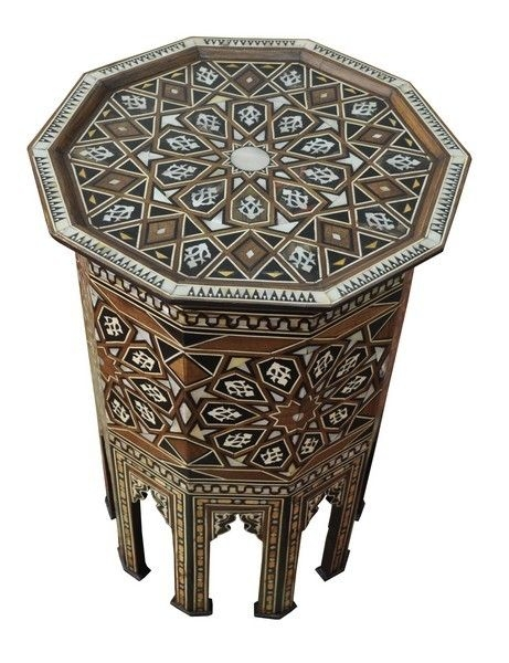 Excellent Top Mother Of Pearl Coffee Tables Intended For 70 Best Inlaid Table Moroccan Syrian Egyptian Indian Turkish (View 44 of 50)