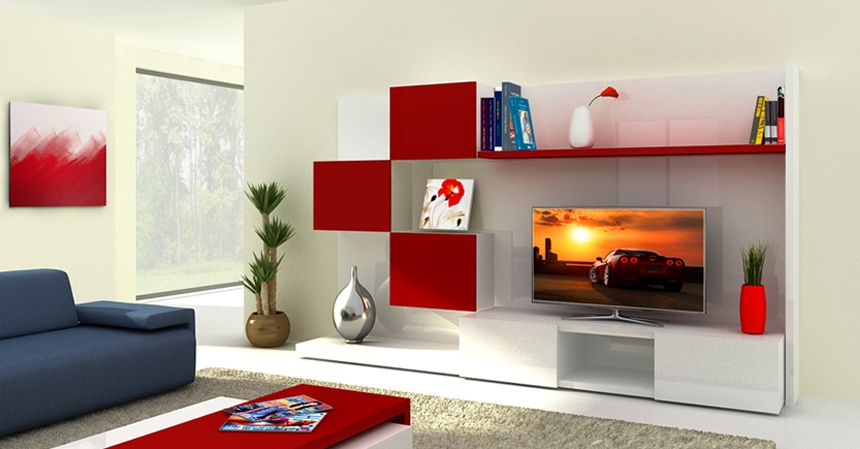 Excellent Top Red Modern TV Stands In Armadi Casa Miami Modern Contemporary And Custom Furniture Store (Image 12 of 50)